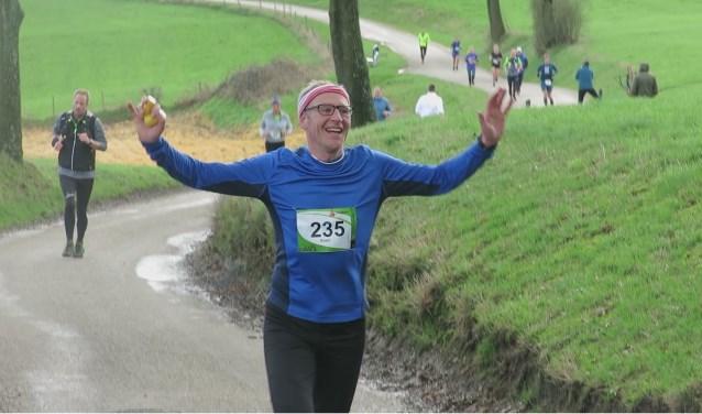 Koen Peeters tijdens de Heuvelland Marathon afgelopen winter in Zuid-Limburg.
