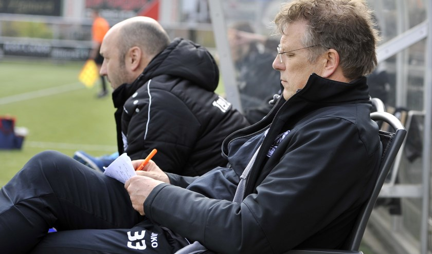 Trainer Peter Schulte van Enter Vooruit. Foto: Henk Pluimers.