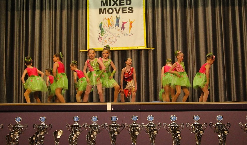 Prachtige bekers zijn er te winnen tijdens het dansfestival in Gendt. De organisatie was in handen van Mixed Moves. (foto: Kirsten den Boef)