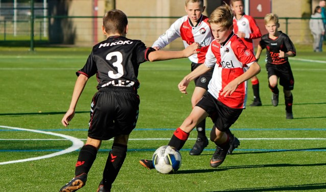 voetbal actie foto