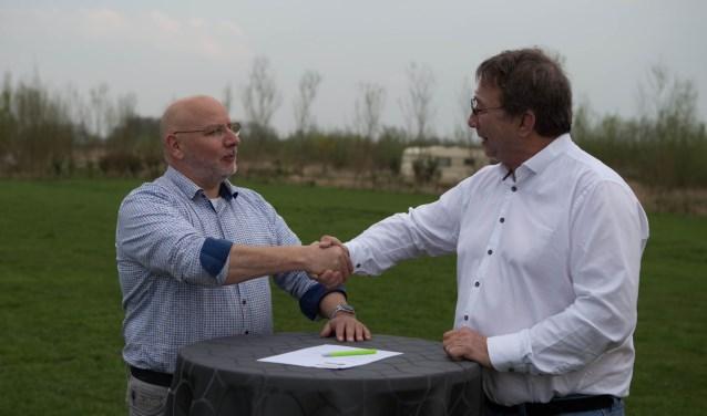 Plus Van Loon steunt dit jaar Geinbeat. Christ van Loon (links) en Riny Kooijman (Maarten Janmaat©)