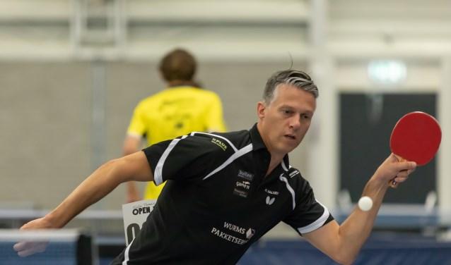 Herm Aalders leed een uiterst krappe nederlaag tegen Steffen Greup.