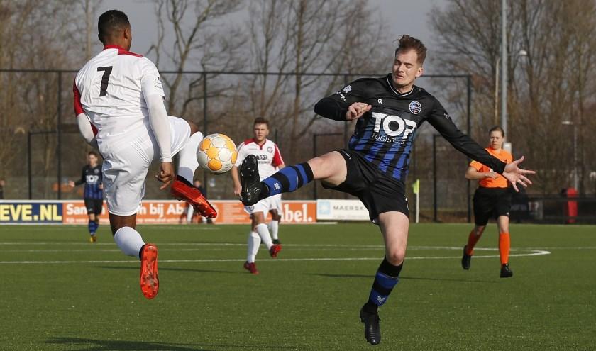 SV Poortugaal heeft nog punten nodig om ook volgend seizoen zeker in de eerste klasse actief te zijn (archieffoto: John de Pater)