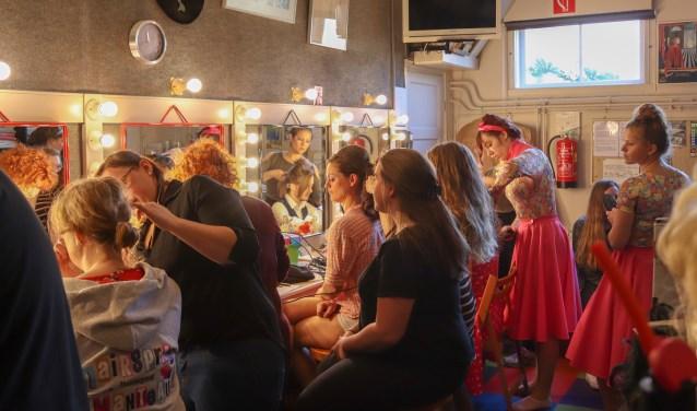Backstage tijdens de try-out in Schoonhoven. Foto: Kevin de Bruin