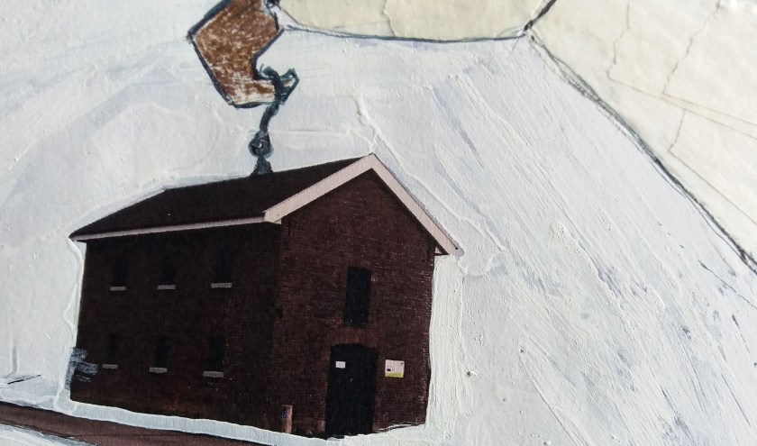 Een fragment van een werk van Merel Holleboom.