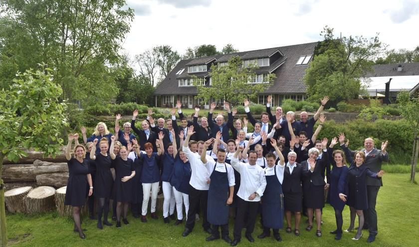 Het team van Landhuishotel & Restaurant De Bloemenbeek in De Lutte is blij met de hoge waardering.