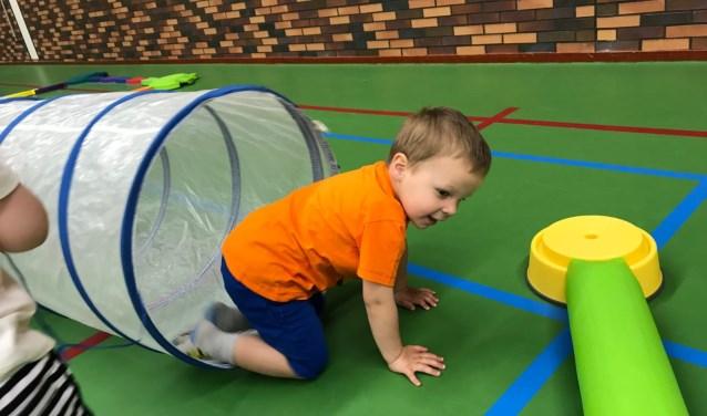 Niets zo leuk voor kinderen als lekker ravotten in een sporthal.