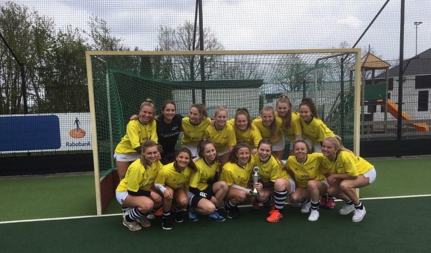Het meisjesteam hockey heeft zich opnieuw geplaatst voor NK.
