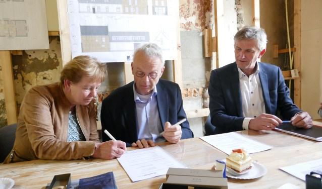 Vorige week werd de bouwovereenkomst ondertekend.