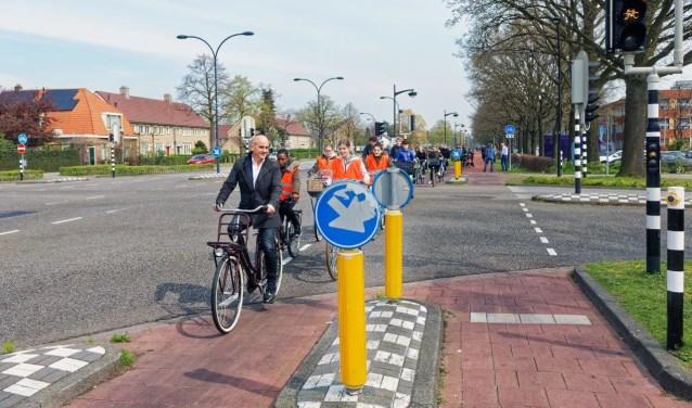 Dinsdag werd in Waalwijk het Tommy-Boy verkeerslicht in gebruik genomen.