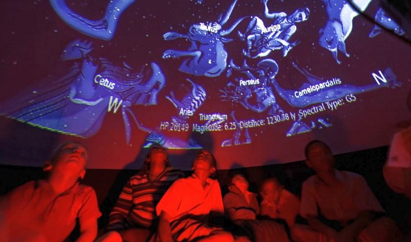 Kijk links, rechts en boven je in het planetarium en je ziet het hele omniversum.
