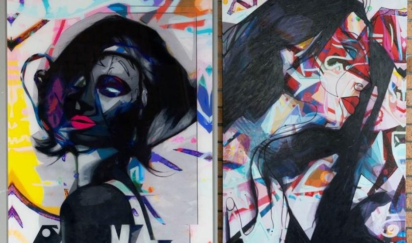 Een van de werken van Dominic. Foto: Nina van Katwijk
