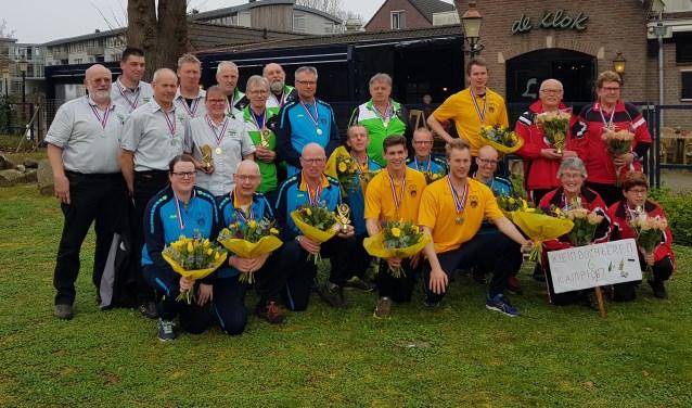 De winnende teams bij De Klok in Eibergen.
