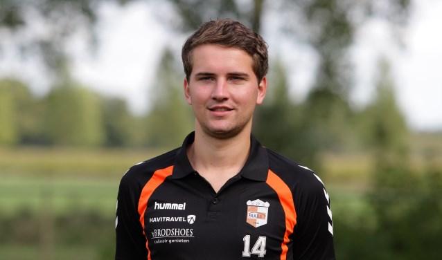 Joost Nollen speelde verdienstelijk in de spits en had zelfs kunnen scoren. Foto: R.K.S.V. Rijssen.