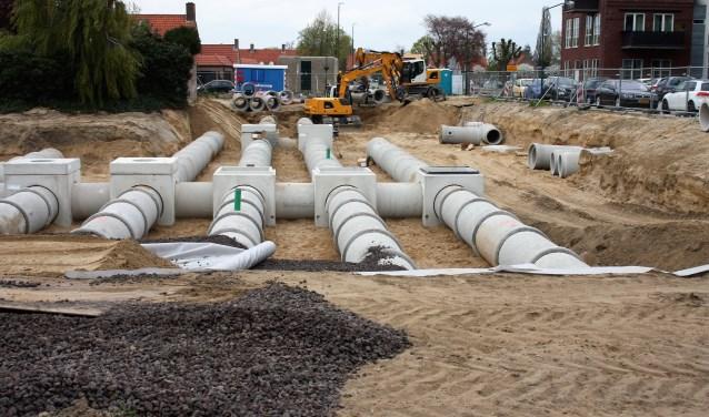 Momenteel wordt er hard gewerkt aan de parkeerplaats aan de Zanddijk en de Oude Werf in Cuijk centrum.
