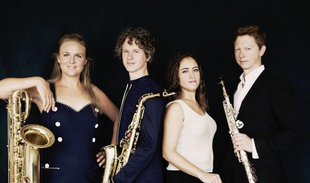 Het Berlage Saxophone Quartet organiseert van 18 t/m 20 april een Academy voor iedereen die saxofoon speelt. Foto: Sarah Wijzenbeek