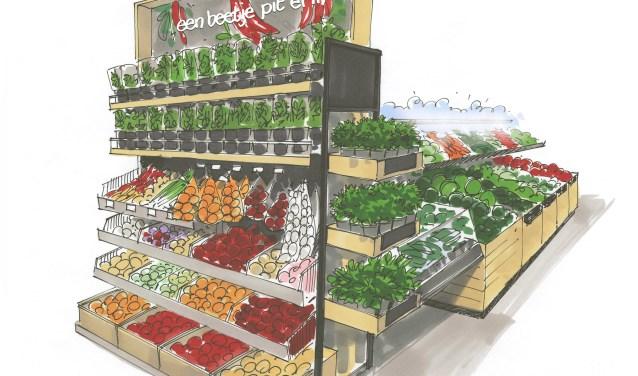In de vernieuwde Albert Heijn worden klanten verrast met een wereld van verse groenten en fruit