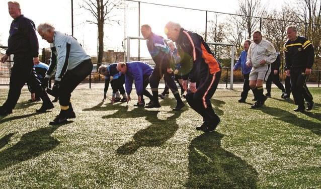 Walking football.