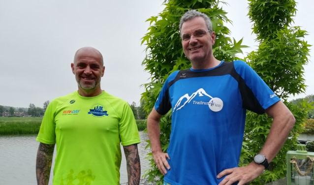 Alex Gijsbers en Gerard Derksen vertrekken naar Spitsbergen voor de meest noordelijke marathon op vaste grond. (foto Hannie Schrijver)