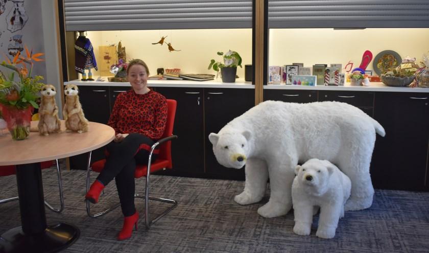 """Esther Baas: """"Met name mensen uit Wierden zijn verbaasd dat wij zo'n grote ruimte nodig hebben."""" Foto: Jolien van Gaalen."""