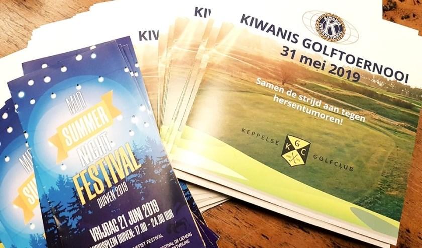 Kiwanis organiseert Culinair Festival en Golftoernooi voor onderzoek naar hersentumoren.