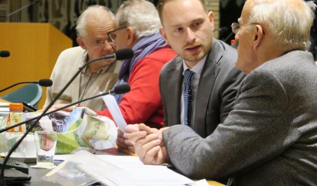 De fractie van EVR in de gemeenteraad tot deze week. Tweede van rechts is Laurens Franzen. (Foto: GvS)