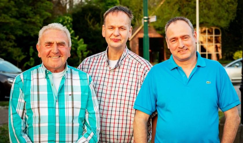 Van links naar rechts Piet Moedt, Gert Norder en Frans van Doorn. (Foto: Saskia Zeller)