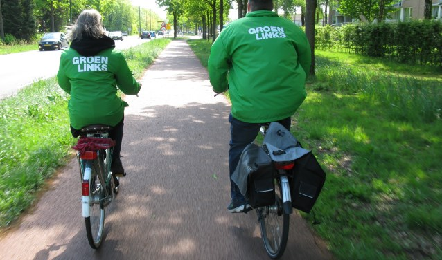 groenLinksers op weg naar Oosterheide