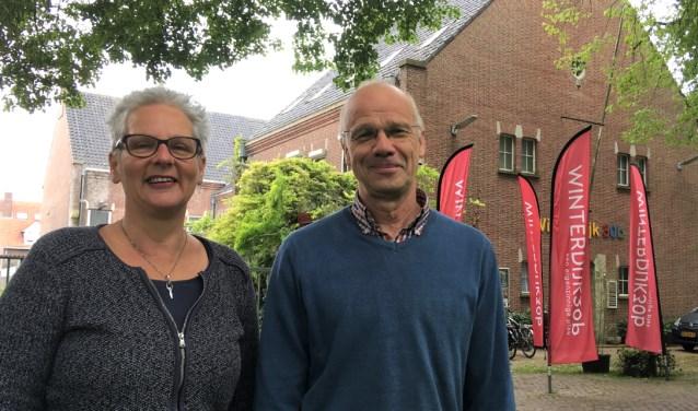 Winterdijk30b wil graag een verbindingsplek zijn om Waalwijk groener en duurzamer te maken. Op de foto IngerMarlies en Alfred.