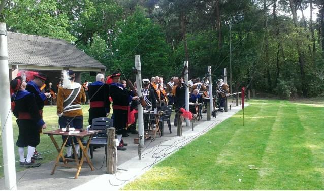 Het jaarlijkse gemeente koningschieten is in Gassel. (eigen foto)