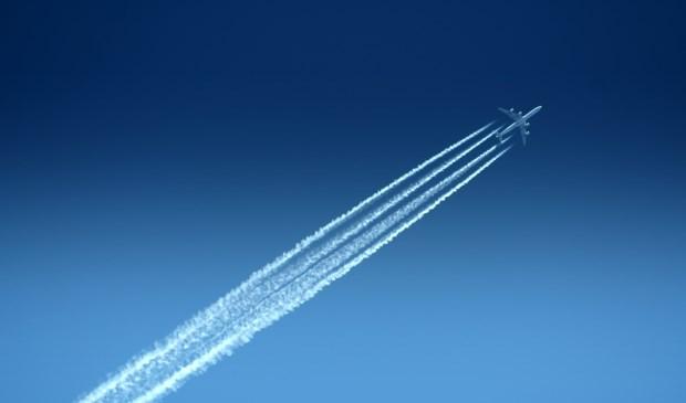 Aeroplain under a blue sky