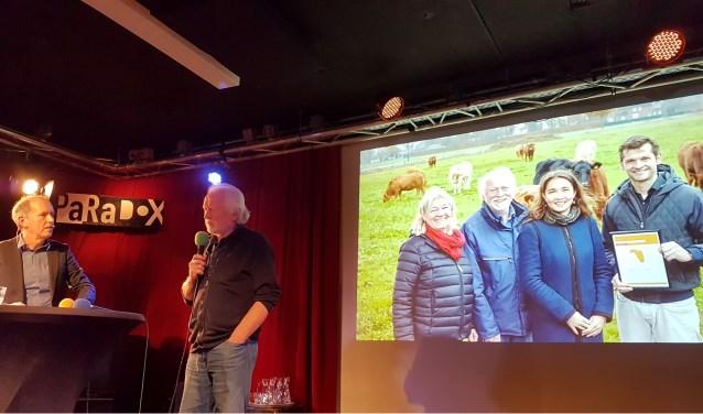 Jan van den Broek vertelde op 31 januari over zijn bedrijf, biologische boerderij 't Schop. Belangstellenden kunnen zelf een kijkje gaan nemen, met de excursie van het Milieucafé op 1 juni (foto: Jasper Schoonhoven)