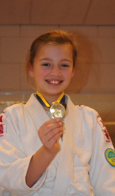 Fabienne kampioen (foto bij de Clubkampioenschappen)