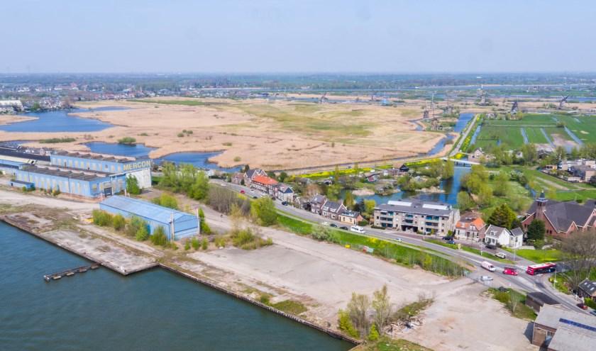 Een luchtfoto van het Mercon Kloos-terrein: hier komt komend weekend de eerste editie van het Lammetjeswiel Festival. (Foto: pr)