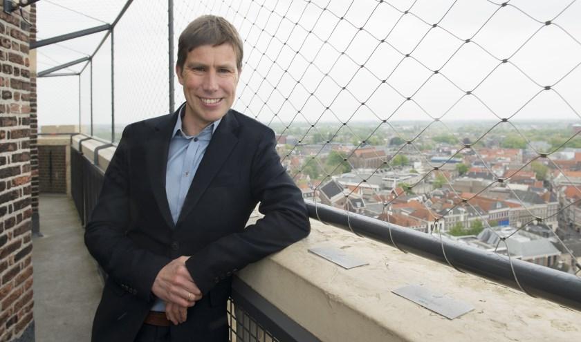 Zwolle van Boven is een klim in de Peperbustoren zeker waard, vindt Vincent Robijn van stichting Allemaal Zwolle.
