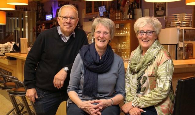 V.l.n.r. Kees Sijssens, Mieke Brouwer en Annemarie Huiskes