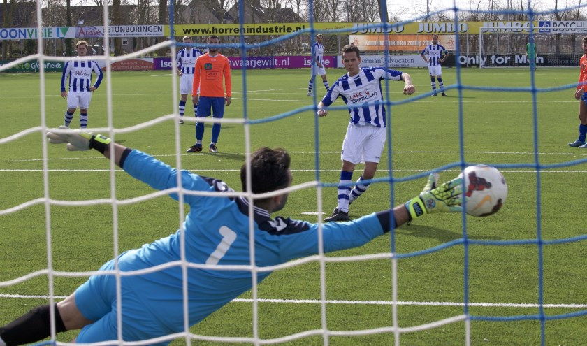 FC Lienden komt zaterdag voor een belangrijk duel in actie tegen het Veenendaalse sv Panter. Inzet is nacompetitievoetbal. (Foto: Henk Jansen)
