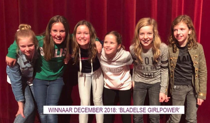 Winnaars december 2018 'Bladelse Girlpower