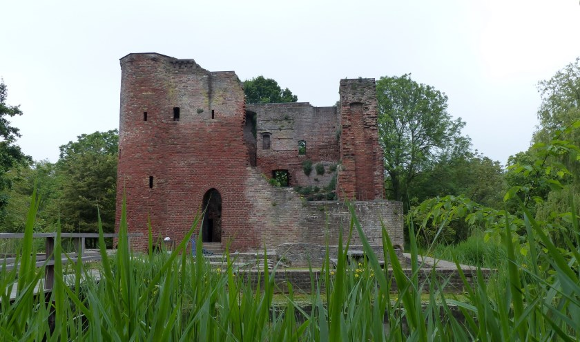De omgeving rond de ruïne van Heenvliet vormt het decoratieve decor van de 26e expositie beeldentuin Ravesteyn. Foto: Roel van Deursen