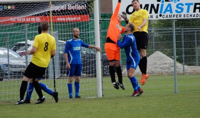 SV Capelle heeft zaterdag met 1-1 gelijkgespeeld tegen GVV'63. Foto: MW fotografie