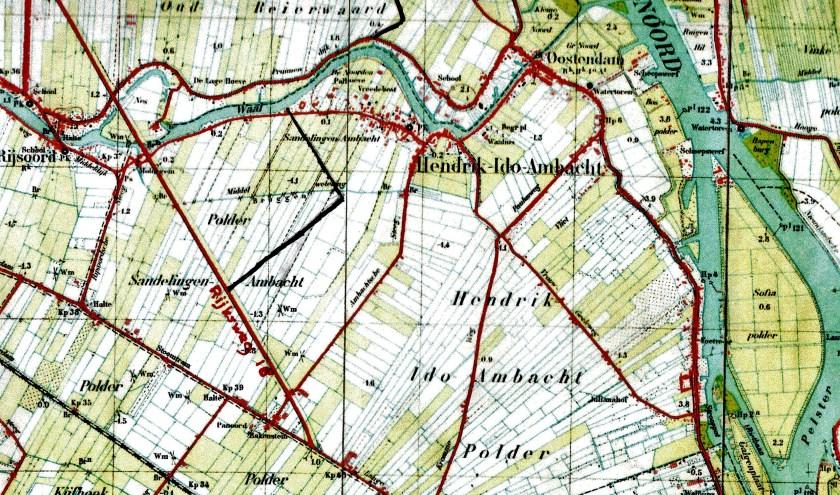 Op deze kaart is met een zwarte lijn de tankval ingetekend.