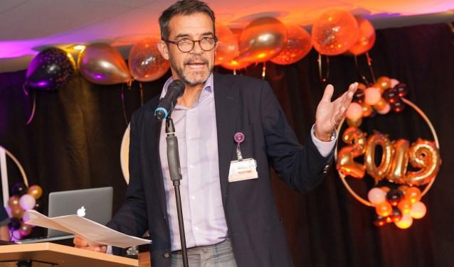 Bestuursvoorzitter Peter  van der Meer van het Albert Schweizer ziekenhuis. (Foto: Frederike Roozen-Slieker)