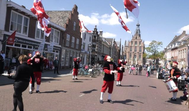 De vendeliers uit Hoogstraaten ondersteunden het programma van het 150-jarig Concordia.