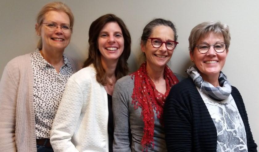 V.l.n.r.: Petra van der Heiden, Jolanda de Wit, Dieuwke van der Hoogt en Karin Koerse. (Foto: Privé)