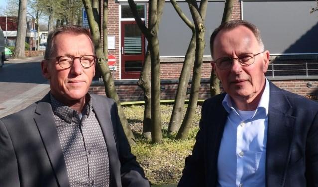 Raadslid Marc Konings (l.) en wethouder Leen van der Maas. ( Foto: gemeente Nunspeet)