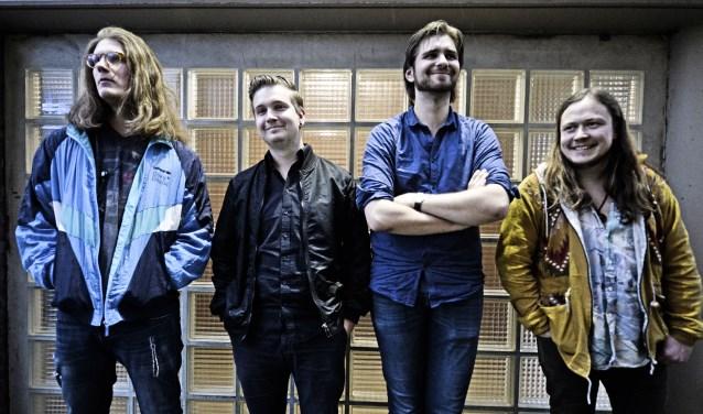 Op de foto van links naar rechts Flørian Stuivenberg, Sebastian Høndørp, Willem Øuwehand en Jøey Vøs.