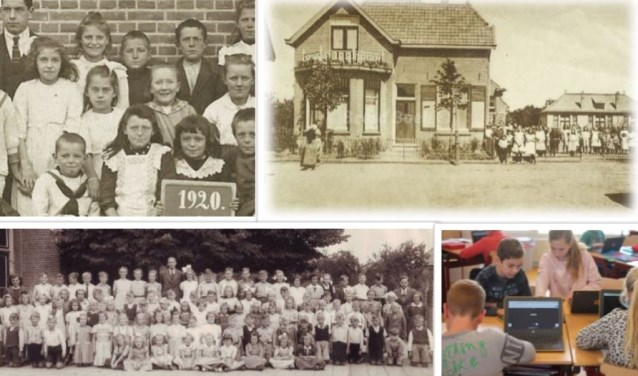 Lingelaar door de jaren heen. De school is bijzonder, want als één van de weinigen in Nederland is de school al 100 jaar een zelfstandige school.