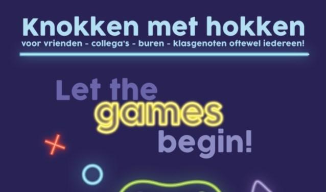 De poster van Knokken met Hokken, met sponsoren