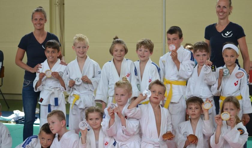 Bij de puntencompetitie maken de judoka's op een laagdrempelige manier kennis met wedstrijdjes.