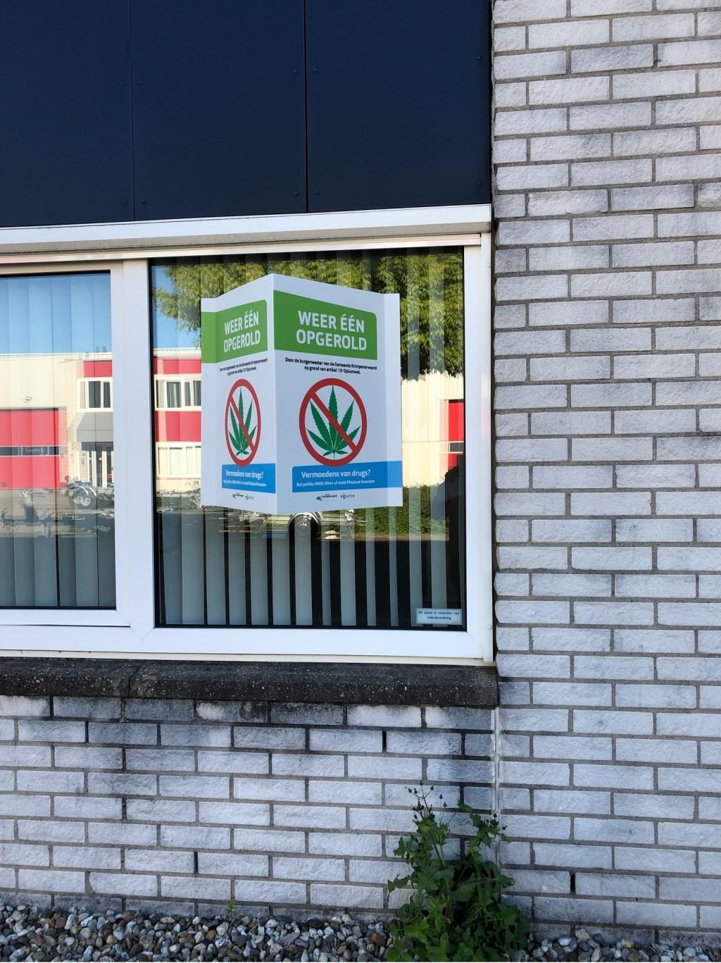 Het bedrijfspand staat aan de Slootweg 5 in Schoonhoven.